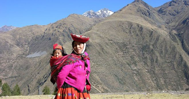 Local woman at Sacred Valley