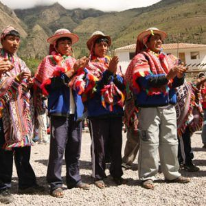 Porters with traditional clothing