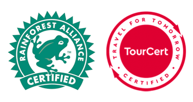 Rainforest Alliance and TourCert Certifications - Sun Gate Tours